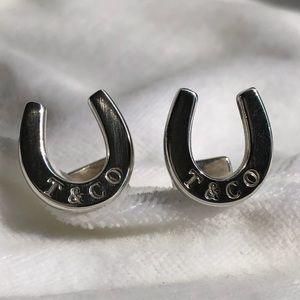 Tiffany & Co. Silver Horseshoe Cuff Links